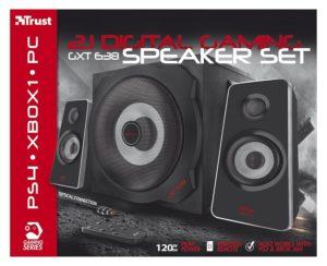 Der GXT 638 2.1 Digitaler Gaming Lautsprecher von Trust im Pc Lautsprecher Test