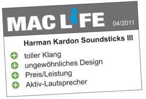 Das Soundsticks III LED Desktop Soundsystem von Harman-Kardon im Pc Lautsprecher Test